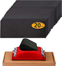 Sandpaper Girt 180 to 2500 Sand Paper with Sanding Block Hand Sander, Wet Dry Variety Pack Abrasive Sandpapers Assortment ...