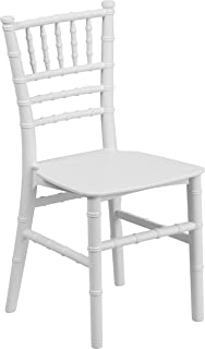 Flash Furniture Kids White Resin Chiavari Chair
