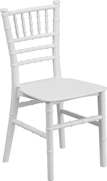 闪光家具儿童白色树脂 Chiavari 椅子