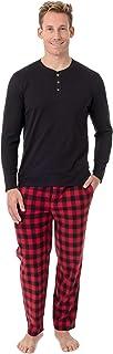 Chaps Men's Jersey Henley and Microfleece Pajama Set