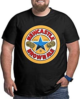 Mens Plus Size Round Neck T-Shirts Unique Wicking Short Sleeve Tee Shirts