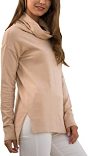 Udobana Women's Turtle Cowl Neck Knit Casual Pullover Sweater Jumper