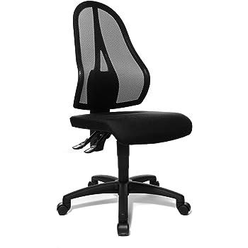 Topstar Open Point P Bürostuhl, Schreibtischstuhl, Stoff, 58 x 48 x 111 cm, schwarz
