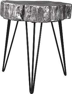 Signature Design by Ashley - Dellman Natural Edge Accent Table - Contemporary Chic - Antique Silver Finish