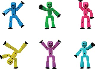Stikbots Action Figures Solid Colors Assortment - 6 pack