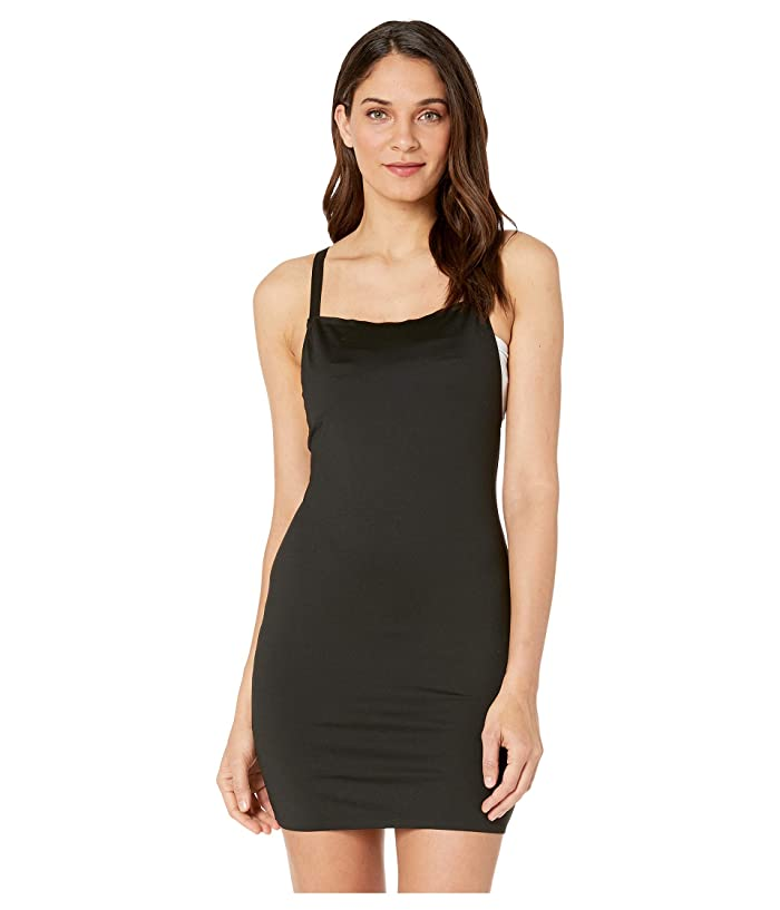 Moschino Straight Neck Dress Cover-Up (Black) Women