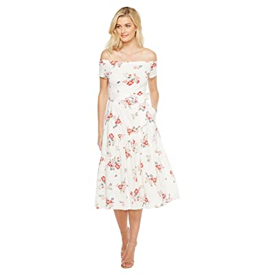 Rebecca Taylor Off the Shoulder Margurite Jersey Dress (Snow) Women