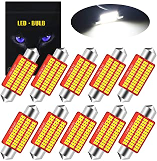 YEERON 578 211-2 LED Bulb Super Bright 36SMD 3014 Chips 41mm 42mm CANBUS Festoon 212-2, 2112, 2122, 214-2, 6411, 560, 569 LED Interior Dome Map Trunk Step Courtesy Lights.Xenon White.(10-Pack)