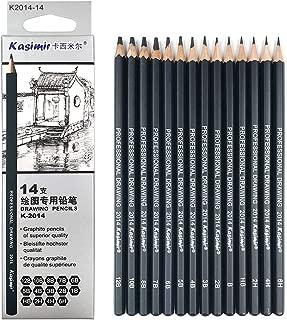 Artist Pencil Collection Best Quality 14pcs/Set 12B 10B 8B 7B 6B 5B 4B 3B 2B B HB 2H 4H 6H Graphite Sketching Pencils Professional Sketch Pencils Set For Drawing