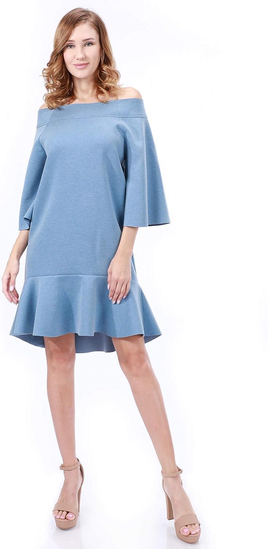 Tov Off The Shoulder 値下げ 3 4 Sleeve Ruffled Dress 高級