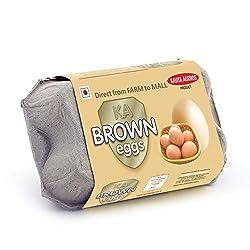 KAVITA AGROSS Brown Shell Eggs (Pack of 6)