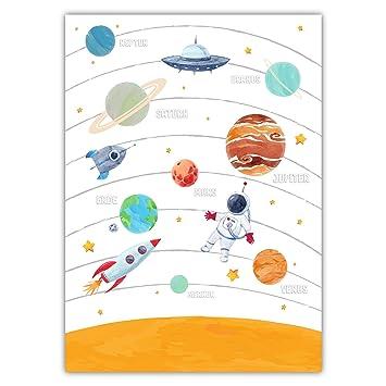 Ideal f/ür M/ädchen Geschenke und Wandtattoo Kinderzimmer Bilder Babyzimmer Deko DIN A4 6er Set Bilder Poster Kinderzimmer Deko f/ür M/ädchen und Junge