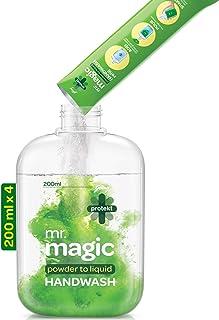 Godrej Protekt Mr. Magic Powder-to-Liquid Handwash Refill, Pack of 4 (makes 200ml each)