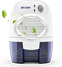 SEAVON Electric Upgraded Dehumidifier for Home, 2000 Cubic Feet (195 sq ft) Portable and Compact 500ml (16 oz) Capacity Qu...