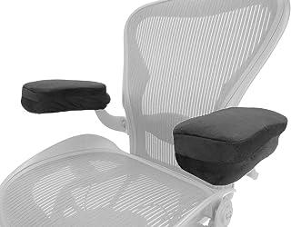 Arm-Eaz Housse Accoudoir pour Chaise de Bureau et Chaise de Jeu, Coussins de Bras de Chaise en Mousse a Memoire pour Confo...