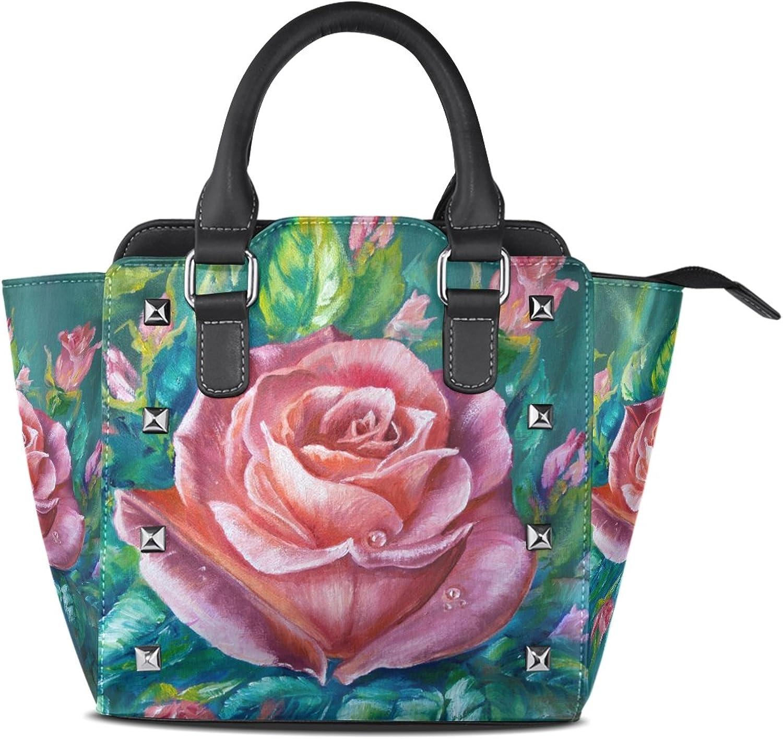 My Little Nest Women's Top Handle Satchel Handbag Vintage Pink pink Ladies PU Leather Shoulder Bag Crossbody Bag