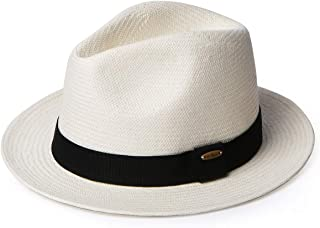 Erigaray Panama Hats for Men Summer Sun Straw Hat Man Fashion Fedora Beach Caps