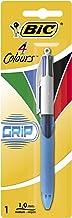 BIC 4 colores Grip Bolígrafo Retráctil punta media (1,0 mm) – Blíster de 1 Unidad