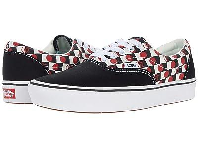 Vans ComfyCush Era ((Drop V Check) Black/White) Athletic Shoes