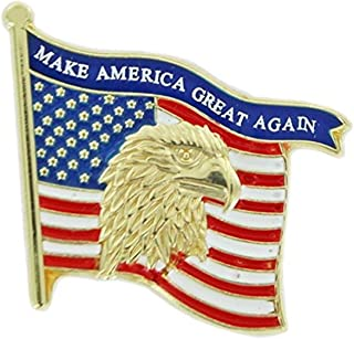 6f99437dbcc3 Patriotic Gold Tone Enameled United States Flag Lapel Pin
