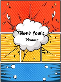 Blank Comic Planner: Comic Panel Book Strip, Comic Book Drawing, Design Sketchbook Journal, Artists Notebook, Blank Book S...
