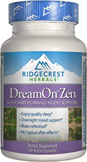 RidgeCrest Herbals DreamOn Zen, Sleep and Morning Mood Support, 60 Vegetarian Capsules