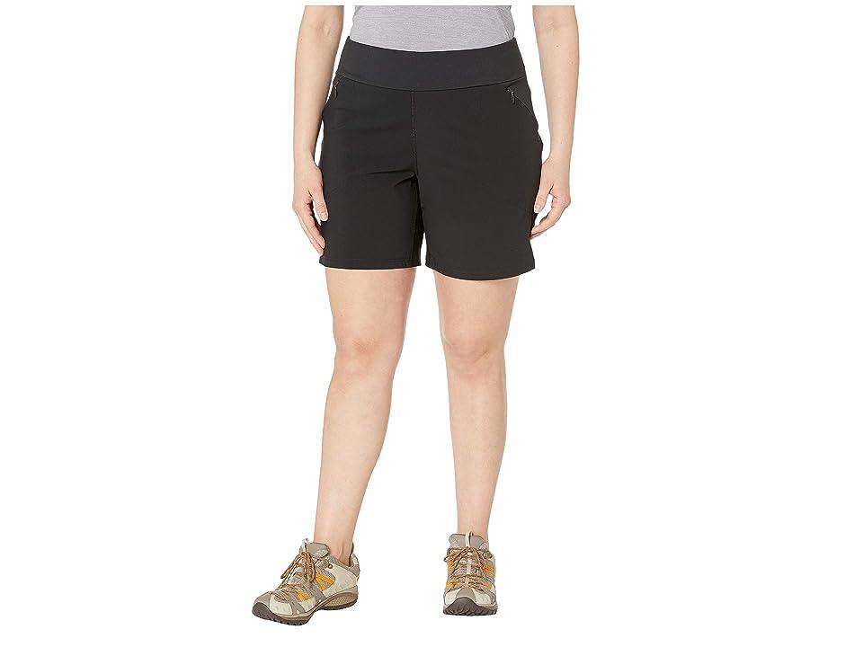 Columbia Plus Size Bryce Canyontm Hybrid Shorts (Black) Women