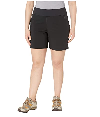 Columbia Plus Size Bryce Canyontm Hybrid Shorts (Black) Women