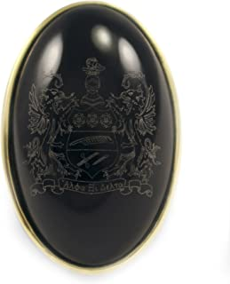 Alpha Xi Delta Sorority Duchess Crest Ring- 14k Brass with Black Onyx