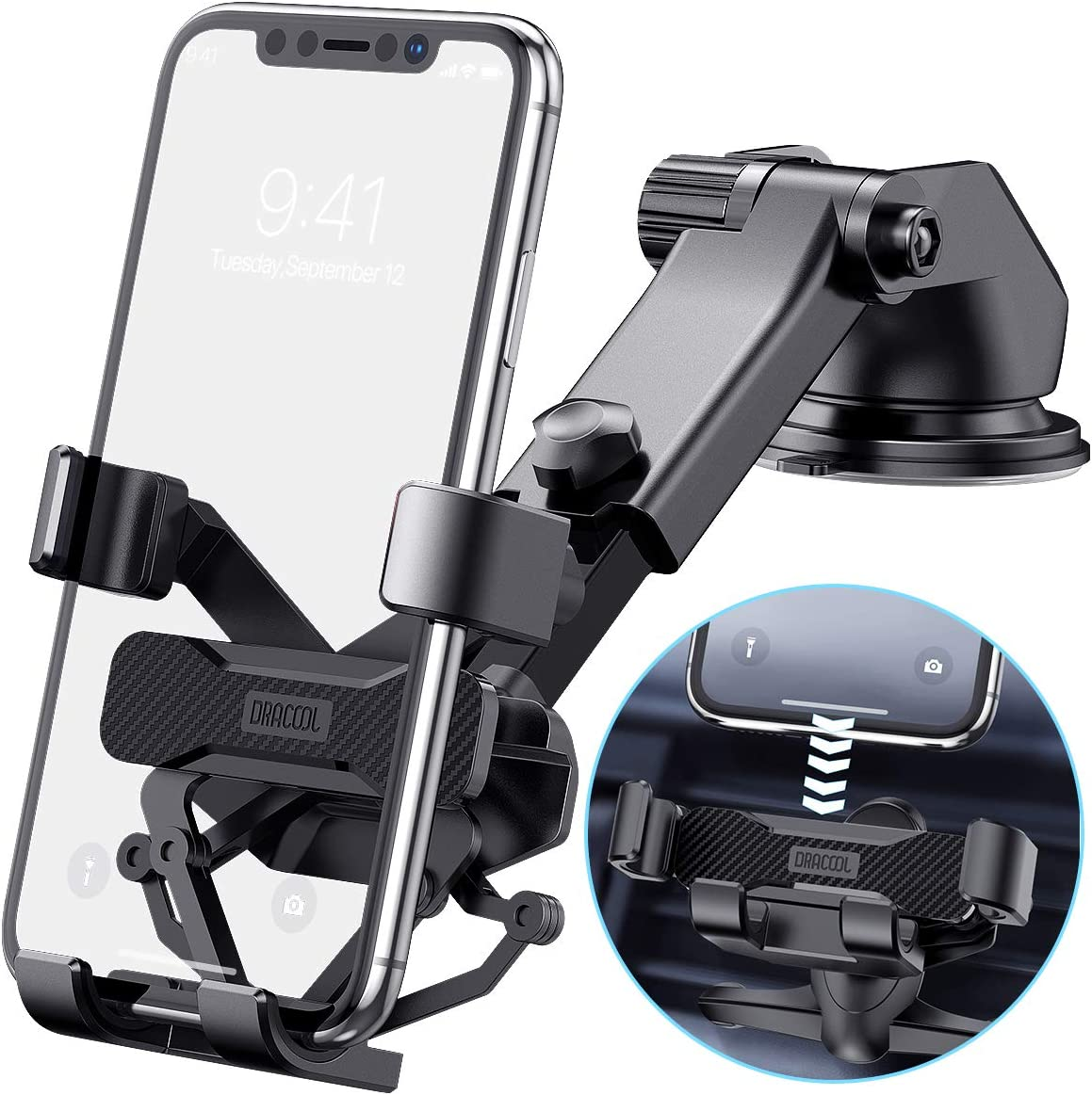 Dracool Car Phone Holder Mount 3-in-1 Translated Cell Gravity Max 82% OFF f