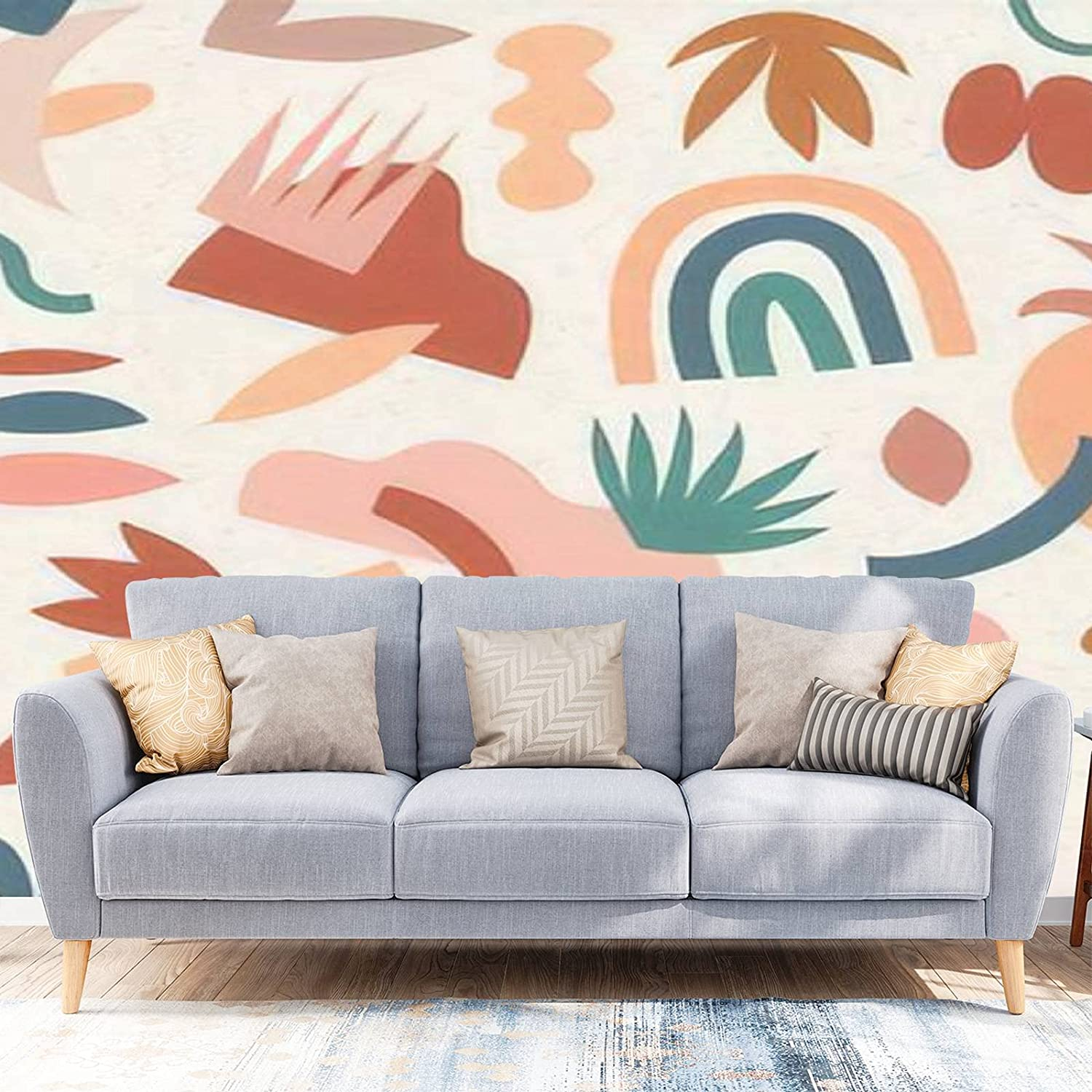 Wallpaper Peel and Stick Modern Japan Maker New Patt Ranking integrated 1st place Abstract Aesthetic Seamless