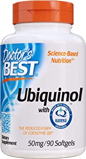 Doctor's Best Ubiquinol with Kaneka QH, Non-GMO, Gluten Free, Soy Free, Heart Health, 50 mg, 90 SoFtgels
