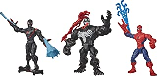 Hasbro Marvel Super Hero Mashers Web-Slinging Mash Collection Pack with Spiderman, Venom and Miles Morales (Amazon Exclusive)