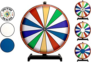 Dalton Labs Spinning Prize Wheel of Fortune - Spin to Win Prizes Roulette Raffle Spinner Game with Clicker - Tabletop Spin Set for Office, Casino, School, Birthday, Trade Show, Party, Carnival