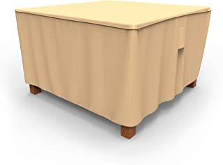 NeverWet Signature Square Patio Table Cover, Medium - Tan, P5A09TNNW2