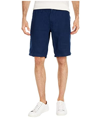 onia Austin Linen Shorts (Deep Navy) Men