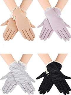 Women Sun Protective Gloves UV Protection Summer Sunblock Gloves Touchscreen Gloves for Driving Riding