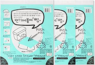 Innovative Disposable Toilet Plunger Sticker for a clogged Toilet 3PCS, Made in Korea