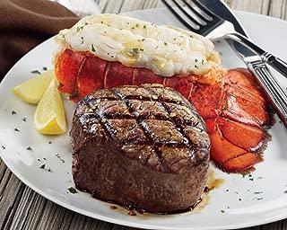 Kansas City Steaks 4 (5oz.) Super Trimmed Filet Mignon and 4 (5 oz) Lobster Tails