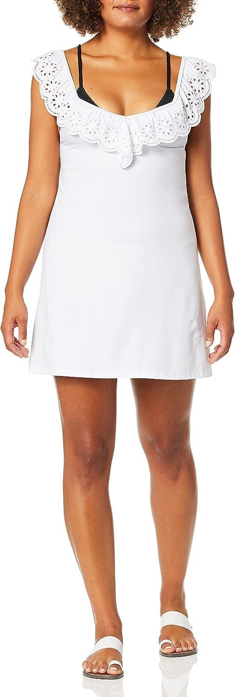 Avec Les Filles Women's Standard Eyelet Dress Swimwear Cover-up