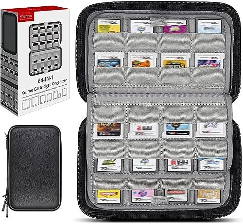 Sisma Etui de Rangement pour 64 Cartouches de Jeu Nintendo 3DS 2DS DS Switch, Pochette de Transport et Protection Rig...