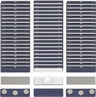 GREATMAG 60 Name Badge Magnets, Magnetic Name Badge Holders, Magnetic Name Tags with 3 Magnets