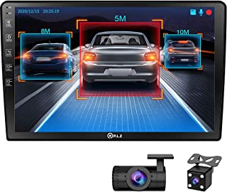 P.L.Z AN-500 Android GPS Navigation Car Multimedia System with Dash Cam - Double Din Car Stereo, 10.1 Inch IPS Touchscreen... photo