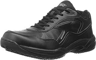 ADTEC Men's White Lace Work Shoe - Slip Resistant, Breathable, Comfortable + Affordable