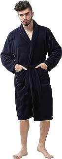 Men's Robe - Soft Fleece – Kimono Hotel Spa Bathrobe - Adults Men Boys