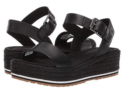 Timberland Santorini Sun Ankle Strap Sandal (Black Full Grain) Women