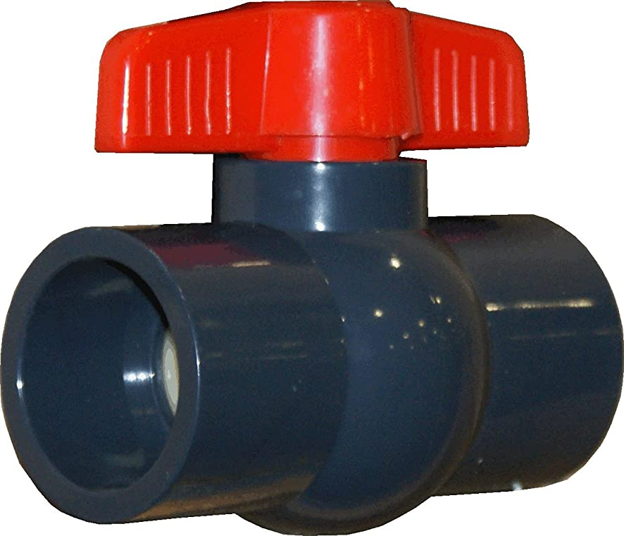 ERA SCHEDULE 80 PVC 1/2 INCH COMPACT BALL VALVE (SOCKET CONNECTION)