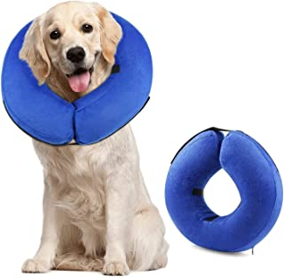 Mumoo Bear Protective Inflatable Dog Collar, Soft Pet Recovery E-Collar Cone for Dogs, Large