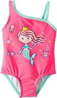 Wonder Nation Infant Girls Mermaid Pink Sizzle One Piece Swimsuit