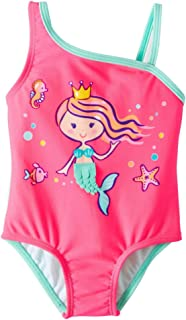 Wonder Nation Infant Girls Mermaid Pink Sizzle One Piece Swimsuit